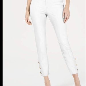 Charter Club slim Fit Ankle Pants in White
